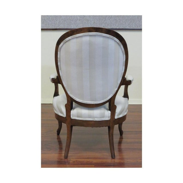 Late 19th Century Late 19th Century Antique French Louis Philippe Fauteuils- A Pair For Sale - Image 5 of 8