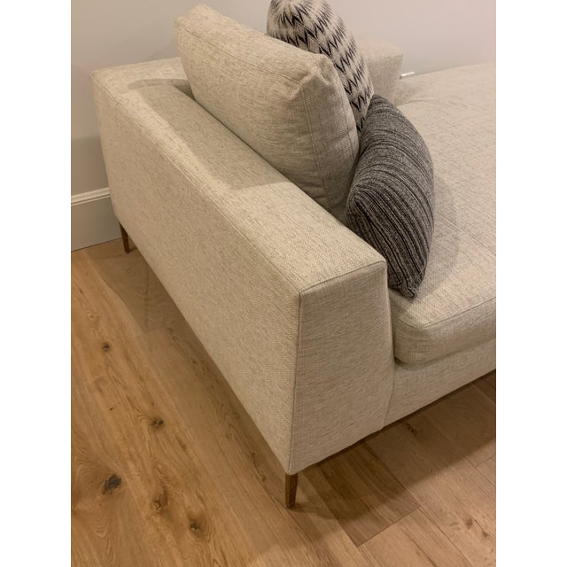Modern Century Roma Right Arm Facing Chaise For Sale - Image 3 of 6