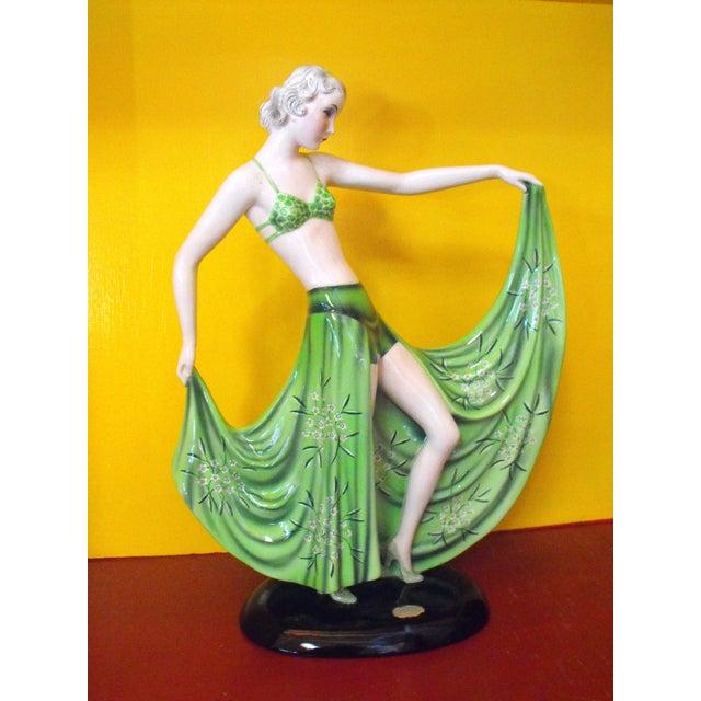 "C. 1939 Goldscheider Dancer by Stefan Dakon, ""Alpete"", Original Paper Label For Sale - Image 11 of 11"