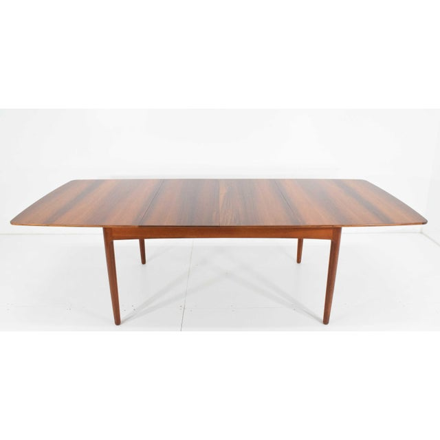 Rosewood and Teak Dining Table by Worts Mobler For Sale - Image 11 of 11
