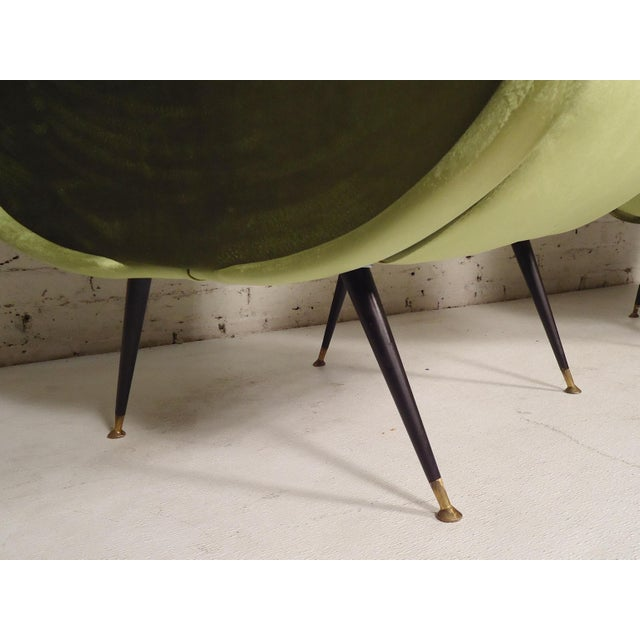 Mid-Century Modern Italian Mid-Century Style Lounge Chairs - a Pair For Sale - Image 3 of 5