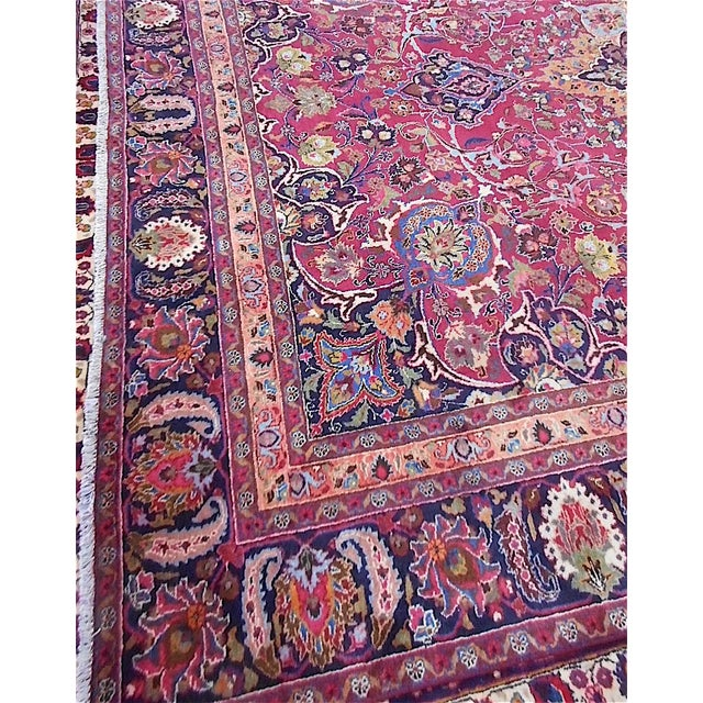 Semi Antique Persian Medallion Rug - 9' x 12' - Image 9 of 10
