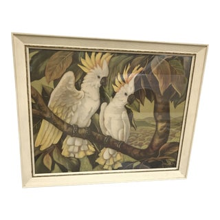 Framed Cockatoos Lithograph After Painting by J Henry Ehlers For Sale