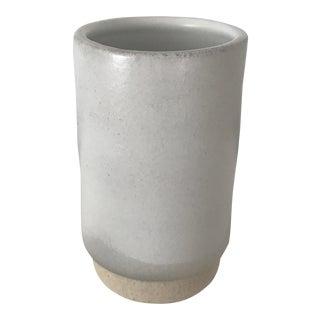Contemporary Minimal White Vase For Sale