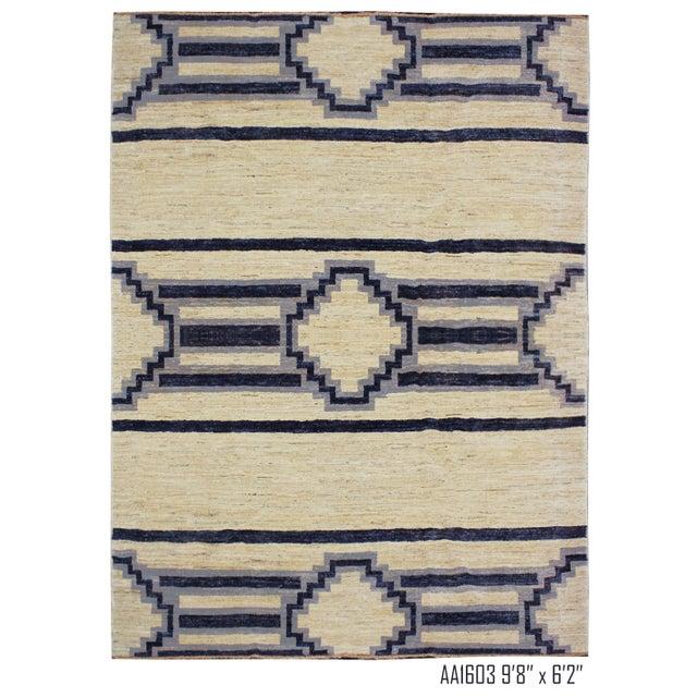 Ivory Handmade Navajo Design Rug For Sale - Image 8 of 10