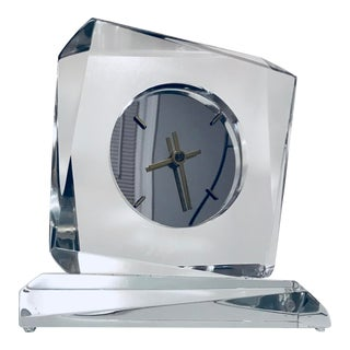 Van Teal Lucite Mantle Clock For Sale