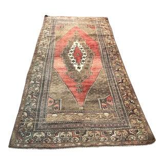 "Turkish Oversize Handmade Area Wool Rug-4'3x9'7"" For Sale"