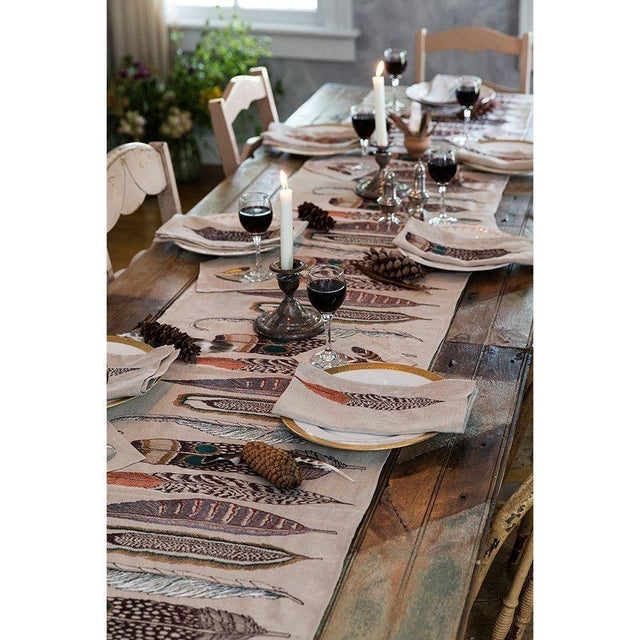 Feathers Table Runner For Sale - Image 4 of 7