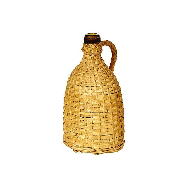 1950's Rattan-Wrapped Bottle - Image 1 of 3