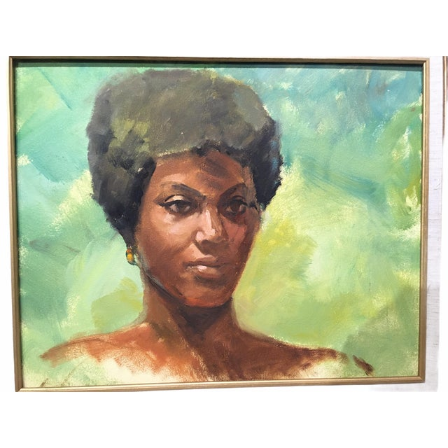 Vintage Mid-Century Oil on Masonite Portrait by Dolores Pharr Smith (D'Pharr) For Sale - Image 4 of 8
