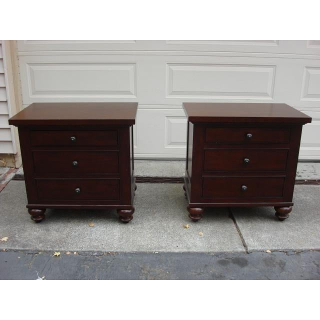 Restoration Hardware Restoration Hardware Camden Nightstands - A Pair For Sale - Image 4 of 8