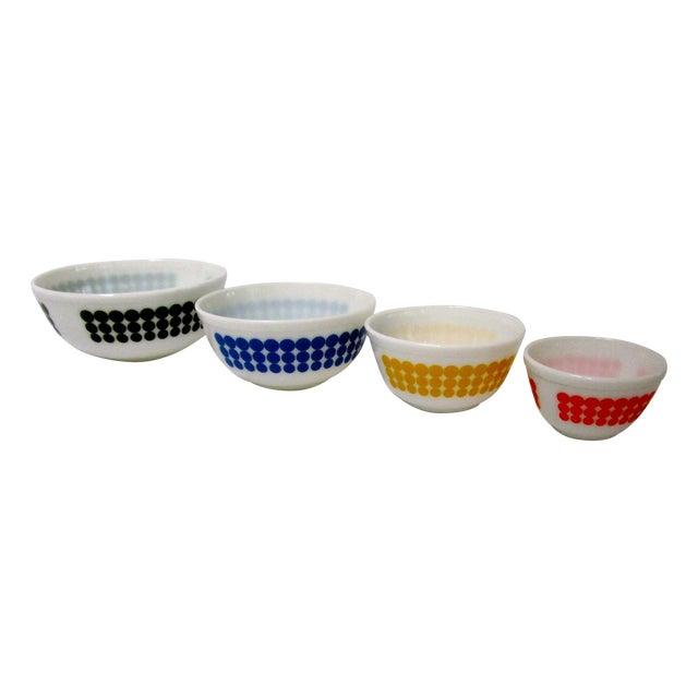 Pyrex Dots Mixing Bowls - Set of 4 - Image 1 of 7