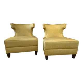 Custom Slipper Chairs - a Pair For Sale