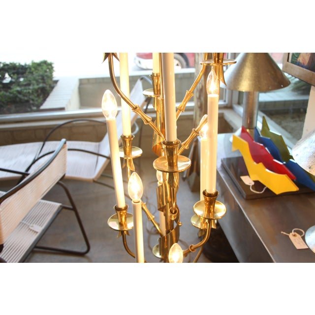 Metal Stilnovo Brass Candelabra Floor Lamps With Marble Bases - a Pair For Sale - Image 7 of 12
