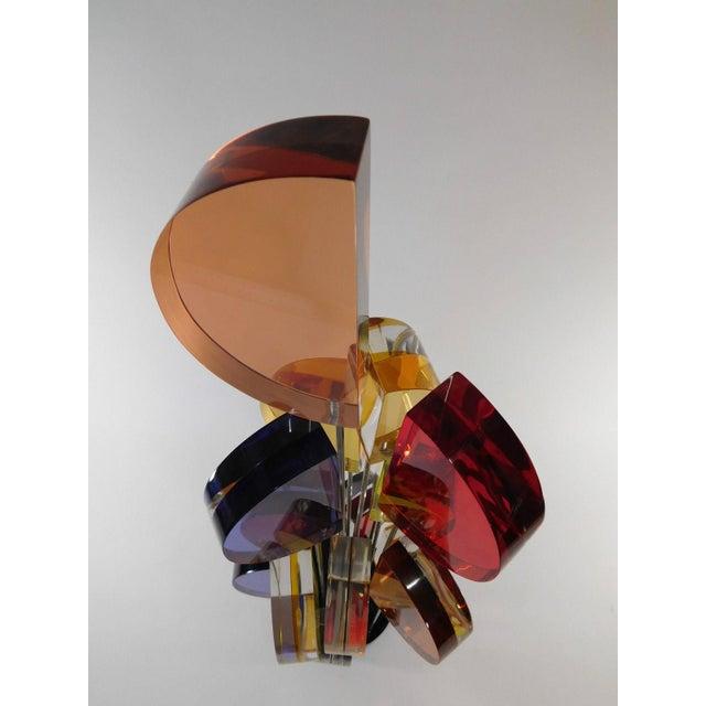 Michael George Sunburst Kinetic Lucite Sculpture - Image 6 of 10