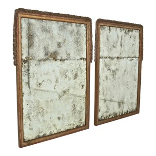 Large Niermann Weeks Neoclassical Mirrors with Antiqued Glass - a Pair