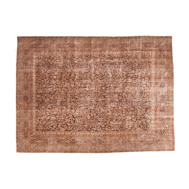 "Distressed Vintage Oushak Carpet - 8'8"" x 11'8"" - Image 1 of 7"
