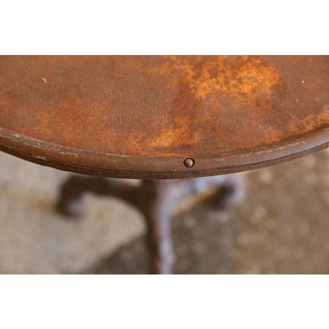 Cast Iron Faux Bois Gueridon Table For Sale - Image 7 of 9