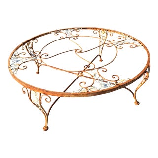 Woodard Chantilly Rose Iron Patio Coffee Table