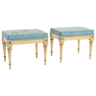 Pair of Regency Style Footstools For Sale