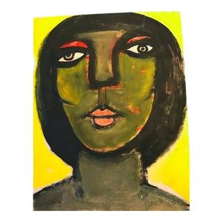 Green Face Woman by Lennie Kesl, 1952