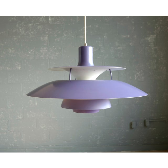 Poul Henningsen for Louis Poulsen Purple Model PH-5 Pendant Lamp - Image 3 of 7