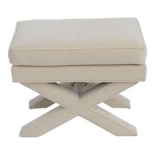 Modern Upholstered 1960s X Bench