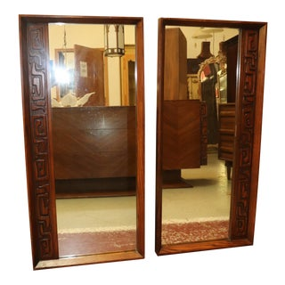 1970s Brutalist Tiki Mirrors - a Pair For Sale