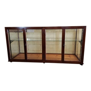 Victorian Mahogany and Glass Shop Counter For Sale