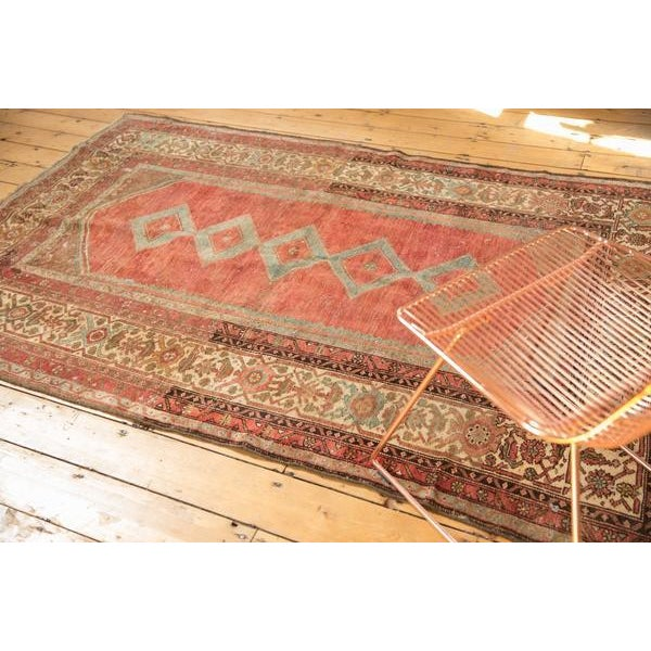 """Chocolate Vintage Distressed Malayer Rug - 5' X 7'7"""" For Sale - Image 8 of 13"""