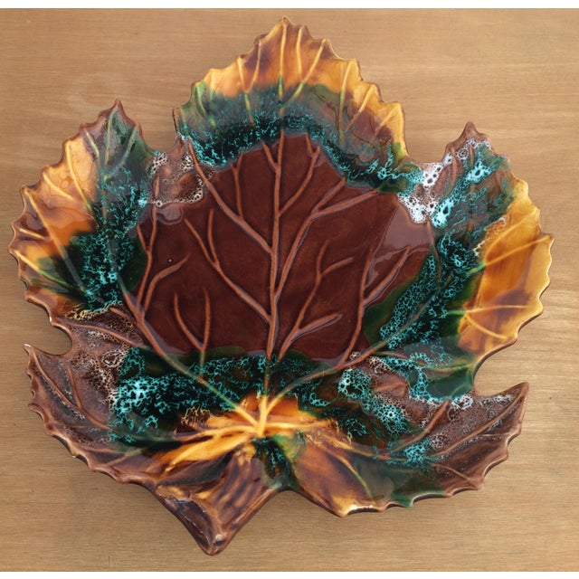 Mid-Century Modern Mid Century 1960's Vintage Vallauris Leaf Shaped Serving Dish For Sale - Image 3 of 6