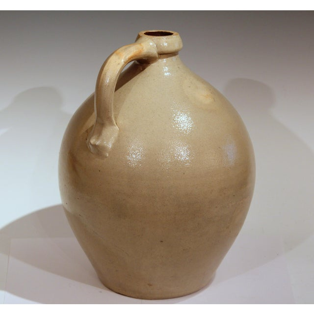 Ceramic Stoneware Jug Ovoid Antique Early 19th Century 3 Gallon Moonshine Country New England For Sale - Image 7 of 13