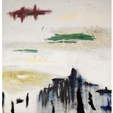 "Image of ""L'insécurité"" Contemporary Minimalist Mixed-Media Painting by Brian Jerome For Sale"
