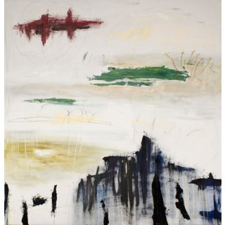 """""""L'insécurité"""" Contemporary Minimalist Mixed-Media Painting by Brian Jerome For Sale"""