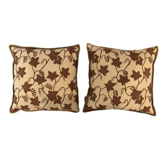 Custom Lee Jofa Fabric Pillows - a Pair For Sale