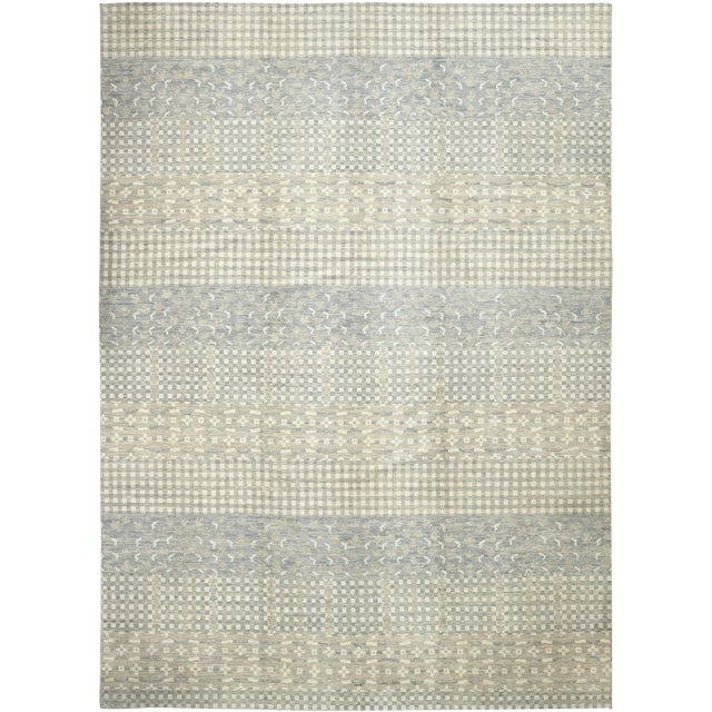 Gray Striped Area Rug For Sale