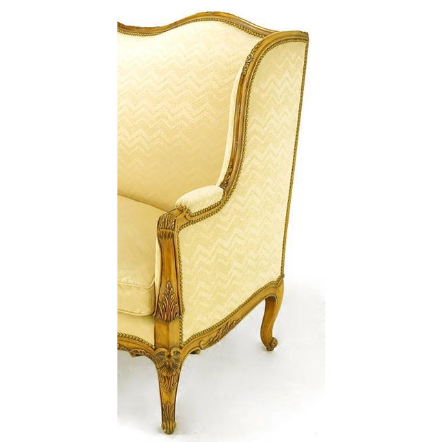 Yale Burge Louis XV Wingback Settee For Sale In Chicago - Image 6 of 9