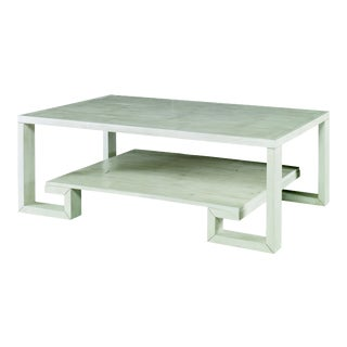 Century Furniture Greek Key Cocktail Table, Peninsula Finish For Sale