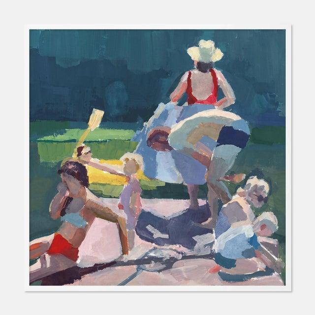 Caitlin Winner Dock Wip by Caitlin Winner in White Frame, Medium Art Print For Sale - Image 4 of 4