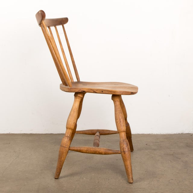 Small Danish Shaker Style Windsor Chair For Sale - Image 4 of 12