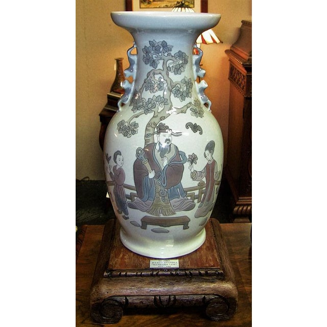 Lladro Lladro Retired Mandarin Vases - Very Rare- A Pair For Sale - Image 4 of 12