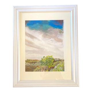 """At the Cape"" Contemporary Coastal Landscape Embellished Photograph Print, Framed For Sale"