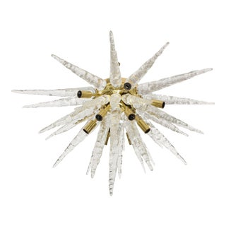 1970s Stalactite Murano Glass Ceiling Light For Sale