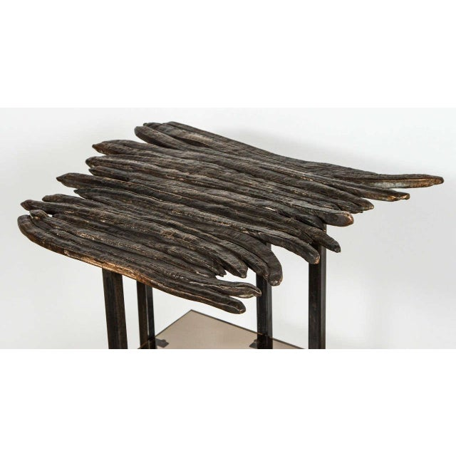 Contemporary Paul Marra Cast Bronze Pod Table For Sale - Image 3 of 7