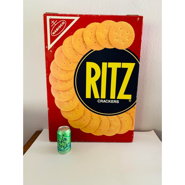 "American Pop Art Prop Supersized ""Ritz "" Crackers Box For Sale - Image 3 of 11"