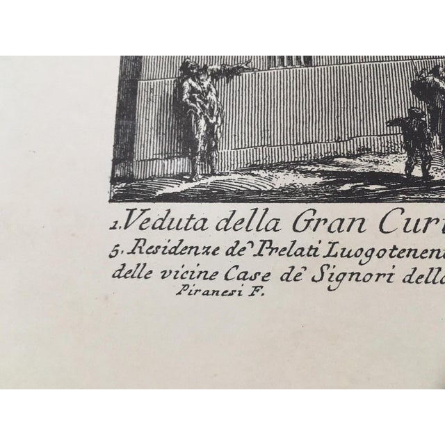 """Veduta Della Gran Curia Innocenziana"" Antique Architectural Lithograph After Piranesi For Sale In Tampa - Image 6 of 7"