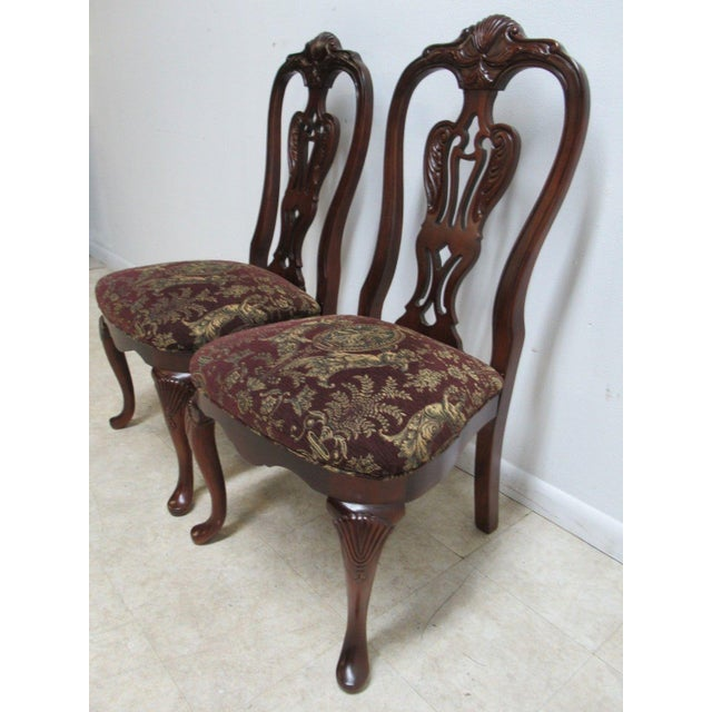 Chippendale Thomasville Solid Mahogany Chippendale Dining Chairs - A Pair For Sale - Image 3 of 10