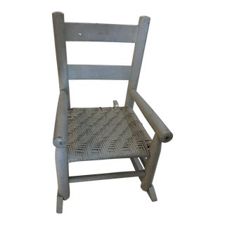 Small Sage Green Painted Child's Rocking Chair