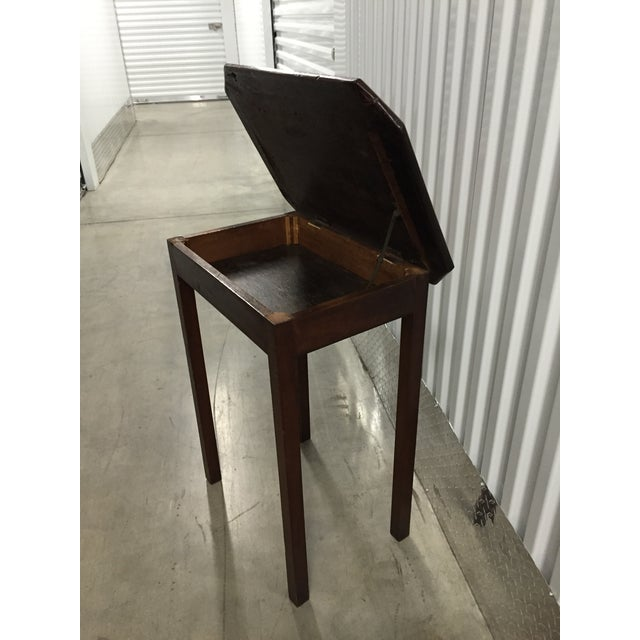 Antique Lift-Top Side Table - Image 6 of 8