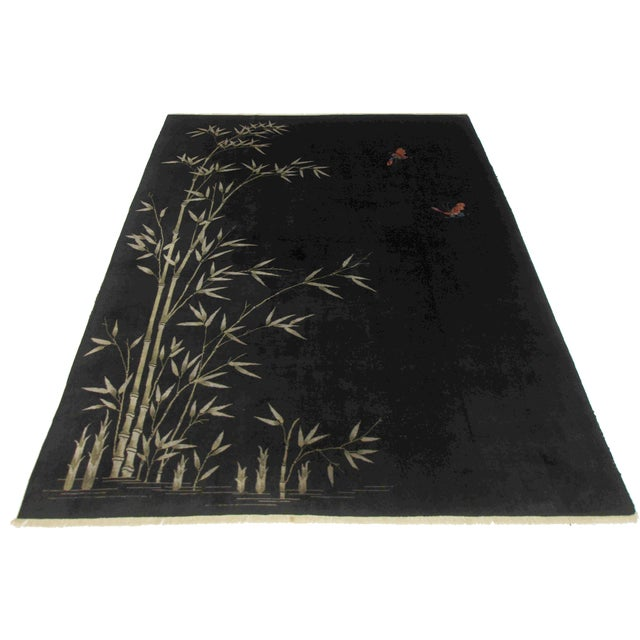 RugsinDallas Black Chinese Art Deco Rug - 8′10″ × 11′4″ For Sale